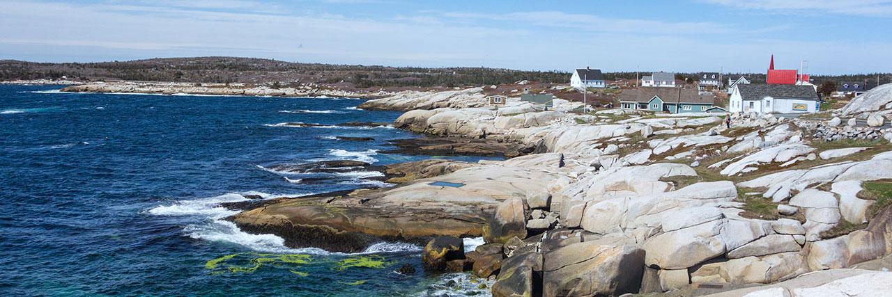 Küste der Peggy`s Cove, Nova Scotia