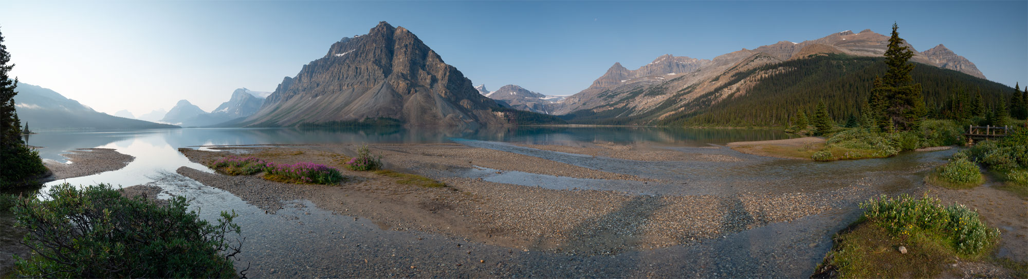 Panorama vom Bow Lake in Banff