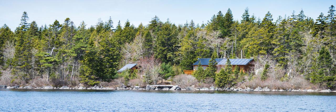 Urlaub auf einer einsamen Insel in Kanada